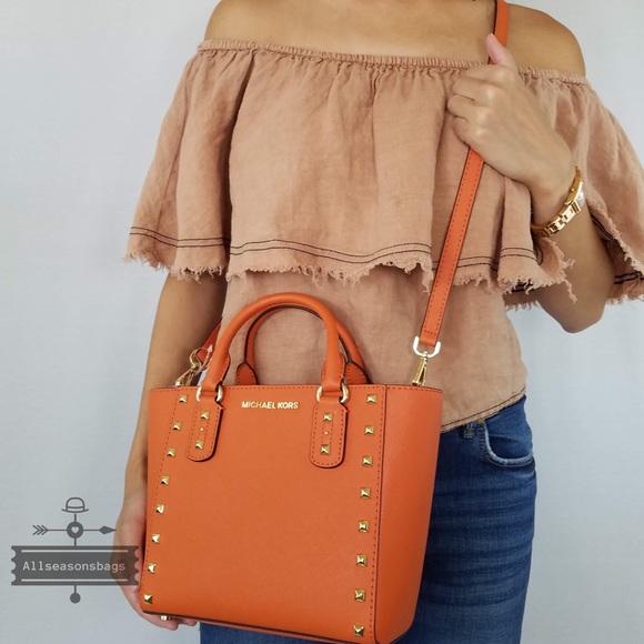 625b4493bbe1ef Michael Kors Bags | Sandrine Small Crossbody Tangerine | Poshmark